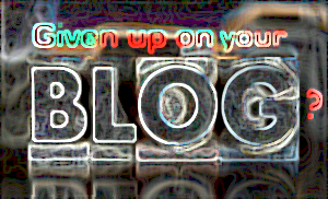 given up blog