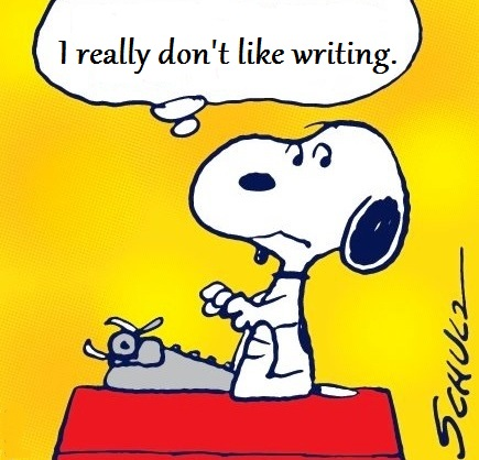 snoopy_doesnt_like_writing
